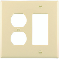 Cooper Wiring PJ826A 2 Gang Duplex And Decorative Plate Almond