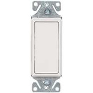Cooper Wiring C7501W-SP-L Single Pole Metal Strap Decorator Rocker Switch White