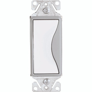 Cooper Wiring 9501WS Aspire 1 Pole GFCI Rocker Switch White Satin