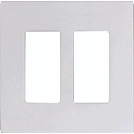 Cooper Wiring 9522WS Aspire 2 Gang Screwless Wall Platewhite Satin