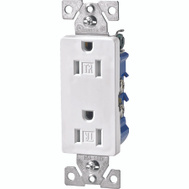 Cooper Wiring TR1107W-BOX Tamper Resistantant Decorative Receptacle White