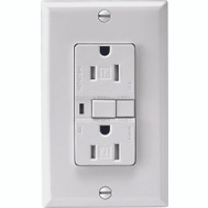 Cooper Wiring TRVGF15W-3 3 Pack 15 Amp Tamper Resistant GFCI NEMA 5-15R Duplex Receptacle With Wallplate White
