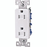 Cooper Wiring TR1107W Tamper Resistantant Decorative Receptacle White