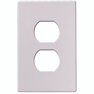 Cooper Wiring PJS8W Screwless Wallplate 1 Gang Duplex Receptacle White