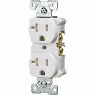 Cooper Wiring TRBR20W-BXSP Receptacle Wht 2Pole 20A/125V