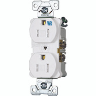 Cooper Wiring TWRBR15W-BXSP Tamper And Weather Resistant Commercial Grade Duplex Receptacle 15A White