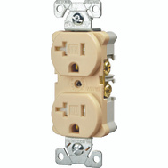 Cooper Wiring TWRBR20V Tamper And Weather Resistant Commercial Grade Duplex Receptacle 20A Ivory