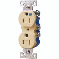 Cooper Wiring TWR270V Tamper And Weather Resistant Duplex Receptacle 15A Ivory