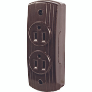 Cooper Wiring 542B-BOX Brown Surface Mount Receptacle