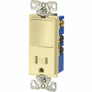 Cooper Wiring TR7730V Decorative Switch & Recept Combo Ivory