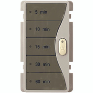 Cooper Wiring 9590SG Aspire Wall Switch Timer With 5 Minute Presets Silver Granite