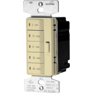 Cooper Wiring PT18M-V-K Accell Wall Switch Programmable Timer With Minute Presets Ivory