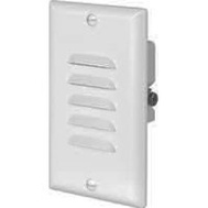 Cooper Wiring 7739W-K Led Step Light With Vertical And Horizontal Louvered Wall Plate White