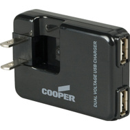 Cooper Wiring BP450-SP-L Charger Plug-In USB Black 1 Amp 5 Volt