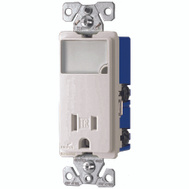 Cooper Wiring TR7735W-K-L Arrowhart Box Dimmable Combination Led Nightlight With Receptacle White