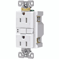 Cooper Wiring TRSGF15W Arrowhart 15 Amp GFCI Duplex Recepticle Tamper Resistant Self Test White