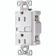 Cooper Wiring TRAFCI15W-K-L Ground Fault Duplex Receptacle Tamper Resistant White