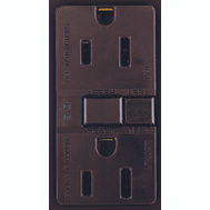 Cooper Wiring SGF15B Arrowhart 15 Amp GFCI Duplex Recepticle Self Test Brown