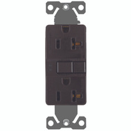 Cooper Wiring SGF20B Arrowhart 20 Amp GFCI Duplex Recepticle Self Test Brown