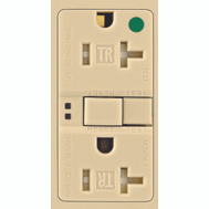 Cooper Wiring TWRSGF20V Arrowhart 20 Amp Tamper And Weather Resistant Specification Grade GFCI Duplex Receptacle Self Test Ivory