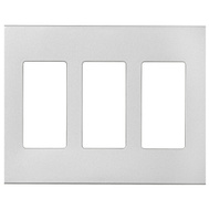 Cooper Wiring PJS263SG-SP-L Wallplate 3G Deco Poly Mid Sg