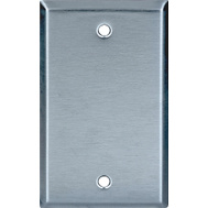 Cooper Wiring 93151-BOX One Gang Stainless Steel Blank Wall Plate