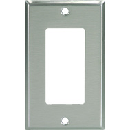 Cooper Wiring 93401-BOX1 Decorator 1 Gang Wallplate Stainless Steel