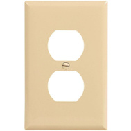 Cooper Wiring PJ8V-CP-L Ivory Mid Size Receptacle Plates 10 Pack