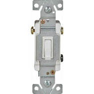 Cooper Wiring 1303W 3 Way Quiet Toggle Switch White