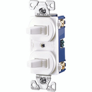 Cooper Wiring 275W-BOX 3 Way And Single Toggle Duplex Switch Wall Plate White