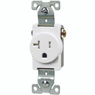 Cooper Wiring TR1877W-BXSP Tamper Resistant 20 Amp Commercial Single Receptacle