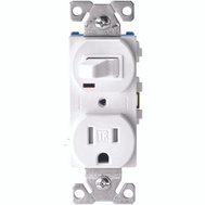 Cooper Wiring TR274W Switch Recpt/Togg Tr 1P15a Wht