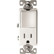 Cooper Wiring TR7730W Decorative Switch & Recept Combo White
