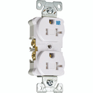 Cooper Wiring TWRBR20W-BXSP Tamper And Weather Resistant Commercial Grade Duplex Receptacle 20A White
