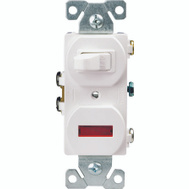Cooper Wiring 277W-BOX Switch/Pilot Light Wht 1p 15a