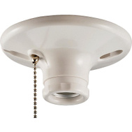 Cooper Wiring S759W-CD-SP Ceiling Lampholder With Pull Chain 660 W Medium White Thermoset Plastic