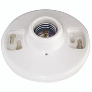 Cooper Wiring 604-SP Ceiling Receptacle Lampholder 660 W Medium Base White Porcelain