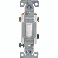 Cooper Wiring 1303-7W 3 Way Grounded Toggle Switch White