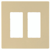 Cooper Wiring PJS262V Screwless Wallplate 2 Gang Rocker Ivory