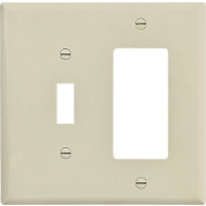 Cooper Wiring PJ126V-SP-L 2 Gang Decorative And Toggle Wall Plate Ivory