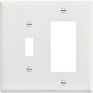 Cooper Wiring PJ126W 2 Gang Decor And Toggle Wall Plate White