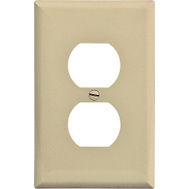 Cooper Wiring PJ8V 1 Gang Mid Size Duplex Receptacle Plate Ivory