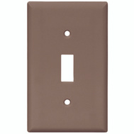 Cooper Wiring 5134B-BOX 1 Gang Nylon Single Toggle Wall Plate Brown