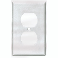 Cooper Wiring 2132W 1 Gang Duplex Receptacle Wall Plate White Pack Of 10