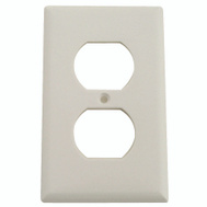 Cooper Wiring 2132W-BOX 1 Gang Standard Duplex Receptacle Wall Plate White
