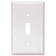 Cooper Wiring 2134W 1 Gang Standard Toggle Wall Plate White