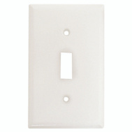 Cooper Wiring 2134W-BOX 1 Gang Standard Toggle Wall Plate White