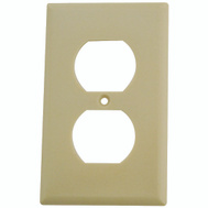 Eaton-Cooper Wiring 2132V-BOX 1 Gang Standard Duplex Receptacle Wall Plate Ivory