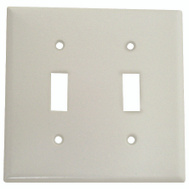 Cooper Wiring 2139W-BOX 2 Gang Standard 2 Toggle Wall Plate White