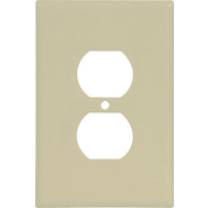 Cooper Wiring 2142V-BOX Oversize Duplex Receptacle Wallplate Thermoset Ivory